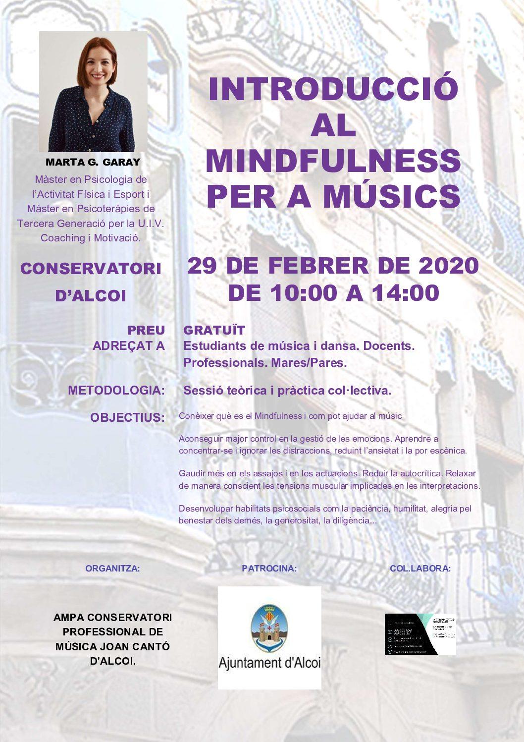 """Curs """"Introducció al mindfulness per a músics"""""""
