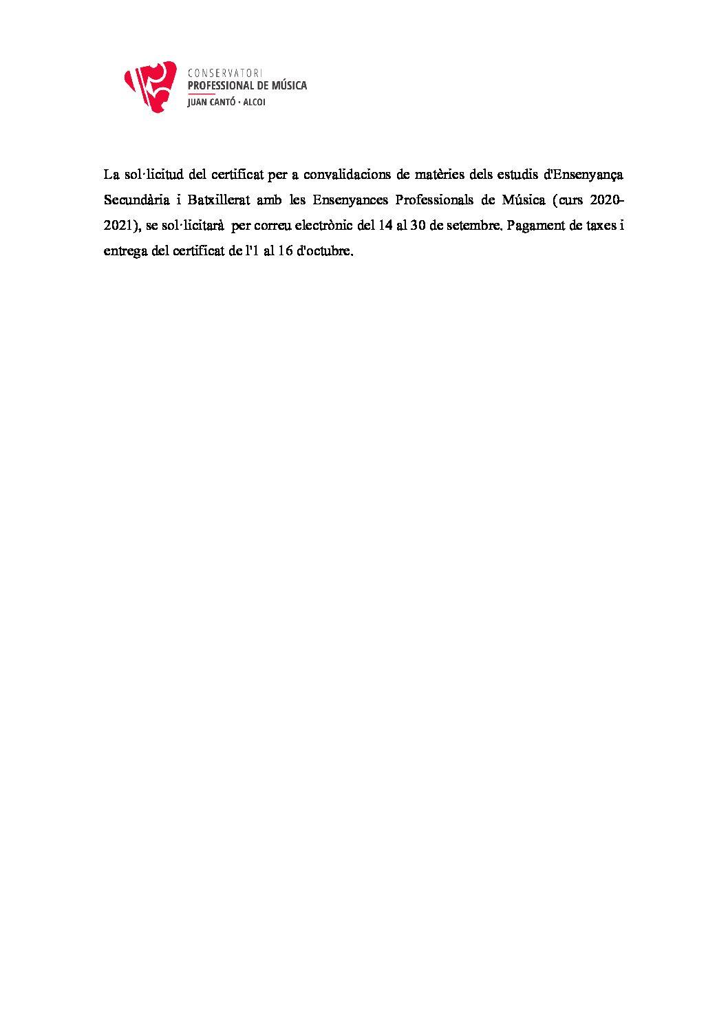 SOL-LICITUD CERTIFICAT CONVALIDACIONS (CURS 2020-2021)