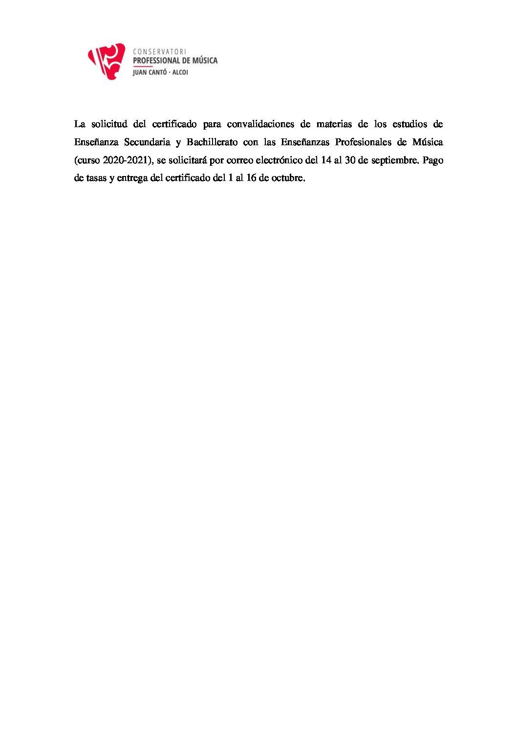 SOLICITUD CERTIFICADO CONVALIDACIONES (CURSO 2020-2021)